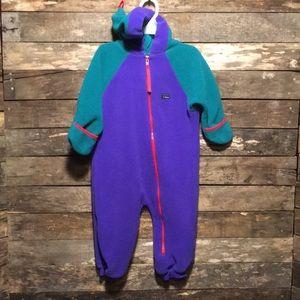 ⭐️L.L. Bean Baby Fleece Hooded Zip Up Snowsuit